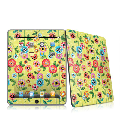 iPad Skin - Button Flowers