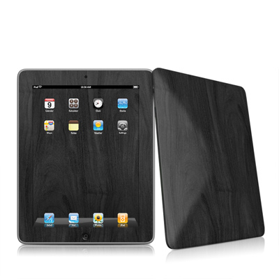 iPad Skin - Black Woodgrain
