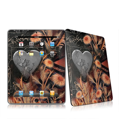 iPad Skin - Black Lace Flower