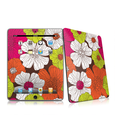 iPad Skin - Brown Flowers