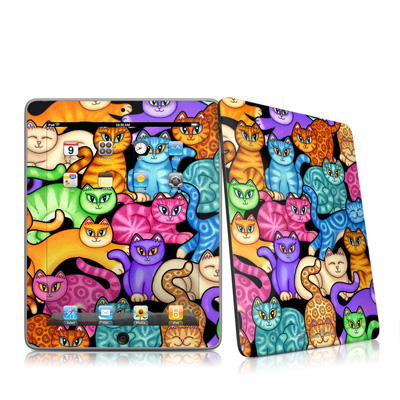 iPad Skin - Colorful Kittens