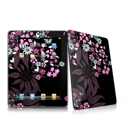 iPad Skin - Dark Flowers