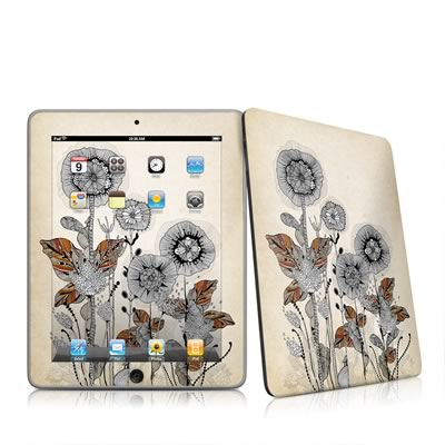 iPad Skin - Four Flowers