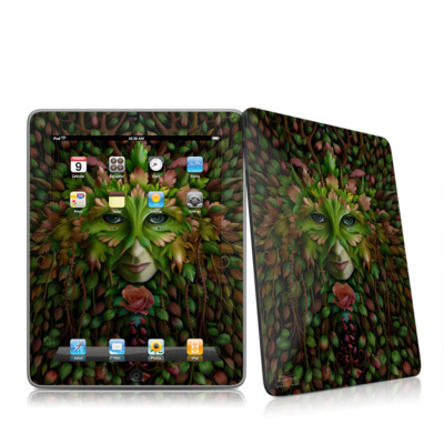 iPad Skin - Green Woman
