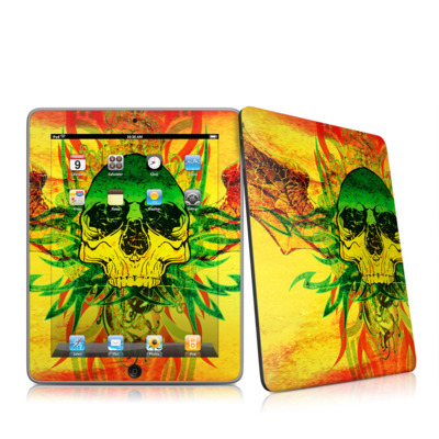 iPad Skin - Hot Tribal Skull