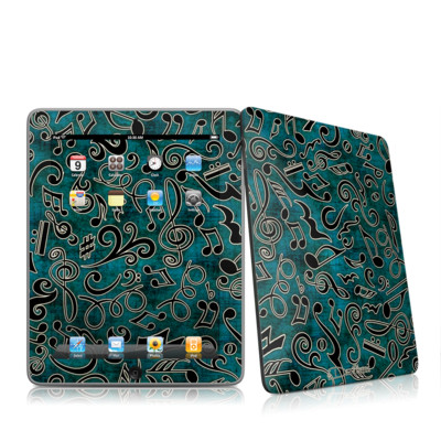 iPad Skin - Music Notes