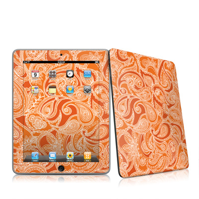 iPad Skin - Paisley In Orange