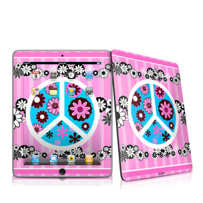 iPad Skin - Peace Flowers Pink