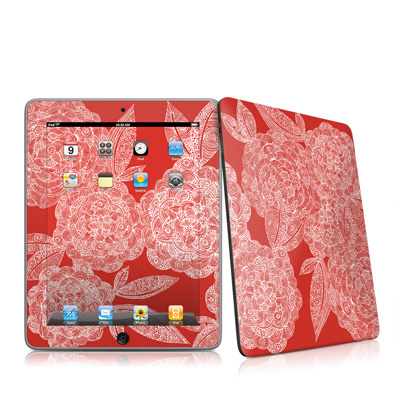 iPad Skin - Red Dahlias