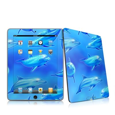 iPad Skin - Swimming Dolphins