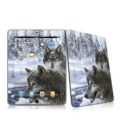 iPad Skin - Snow Wolves