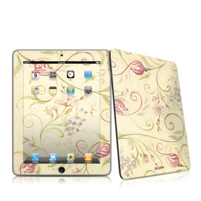 iPad Skin - Tulip Scroll
