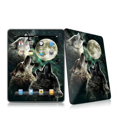 iPad Skin - Three Wolf Moon