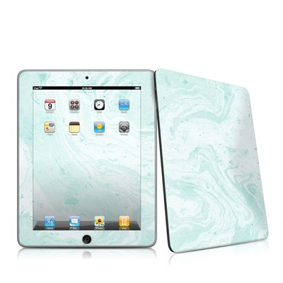 iPad Skin - Winter Green Marble