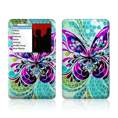iPod Classic Skin - Butterfly Glass