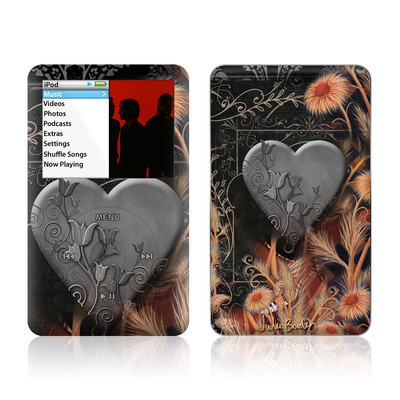iPod Classic Skin - Black Lace Flower