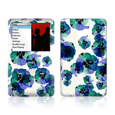 iPod Classic Skin - Blue Eye Flowers