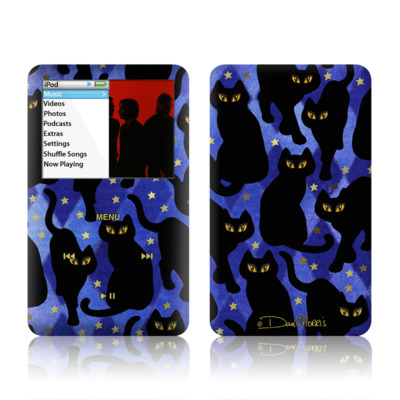 iPod Classic Skin - Cat Silhouettes