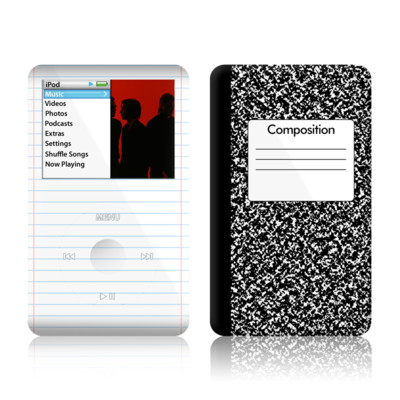 iPod Classic Skin - Composition Notebook