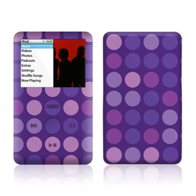 iPod Classic Skin - Big Dots Purple