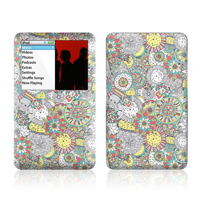iPod Classic Skin - Faded Floral
