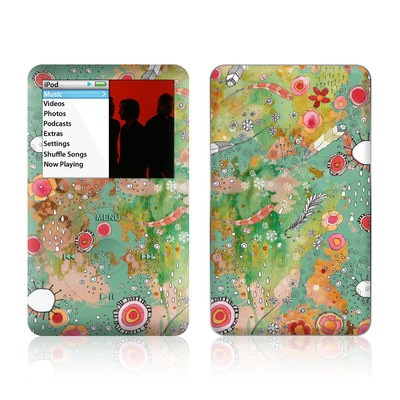 iPod Classic Skin - Feathers Flowers Showers