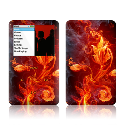iPod Classic Skin - Flower Of Fire