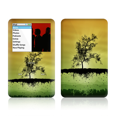 iPod Classic Skin - Flying Tree Amber