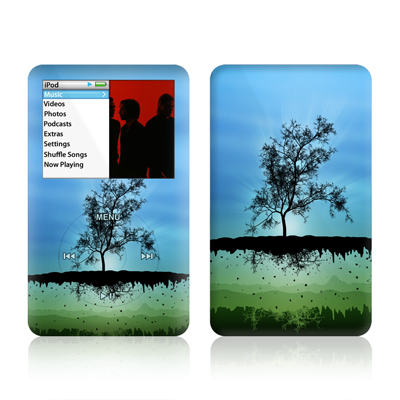 iPod Classic Skin - Flying Tree Blue