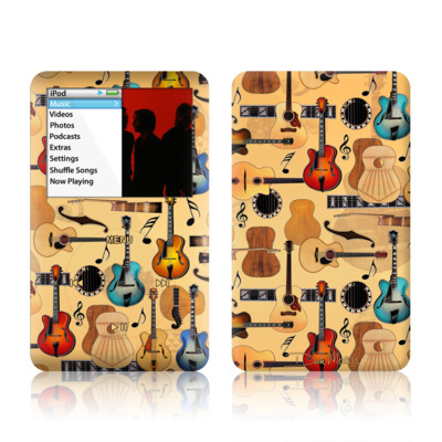 iPod Classic Skin - Guitar Collage