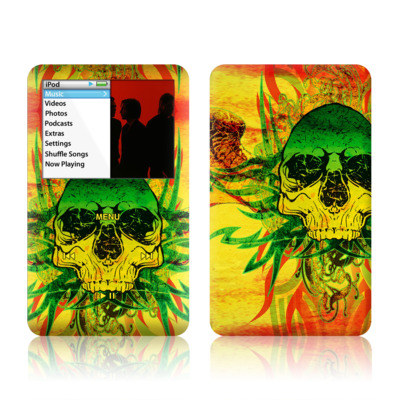 iPod Classic Skin - Hot Tribal Skull