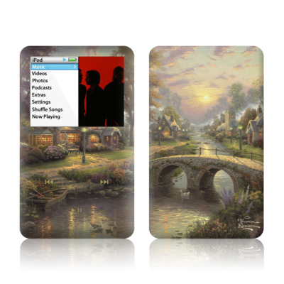 iPod Classic Skin - Sunset On Lamplight Lane