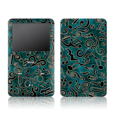iPod Classic Skin - Music Notes