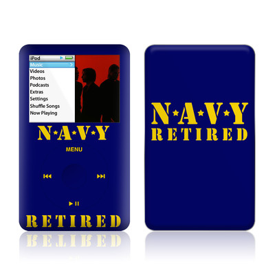 iPod Classic Skin - Navy Retired