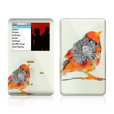 iPod Classic Skin - Orange Bird
