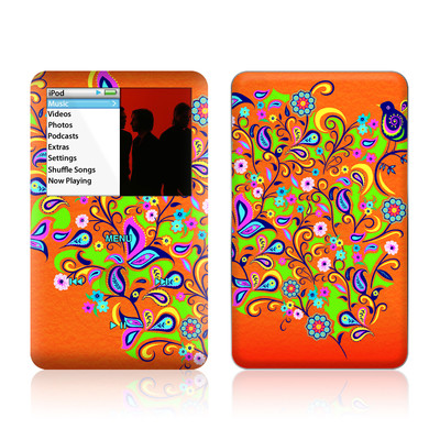 iPod Classic Skin - Orange Squirt