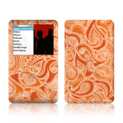 iPod Classic Skin - Paisley In Orange