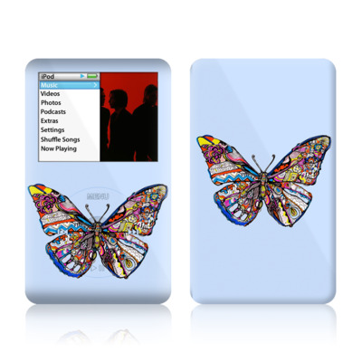 iPod Classic Skin - Pieced Butterfly