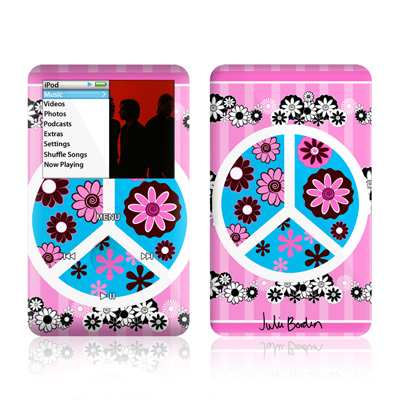 iPod Classic Skin - Peace Flowers Pink