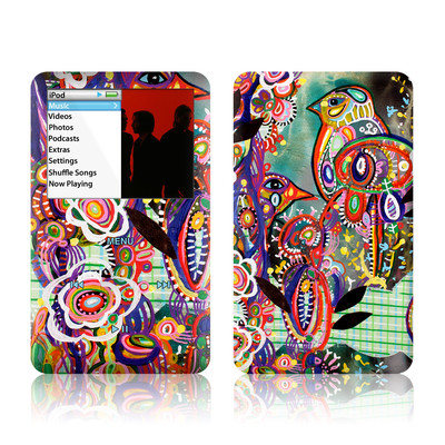 iPod Classic Skin - Purple Birds