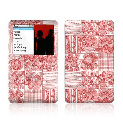 iPod Classic Skin - Red Quilt