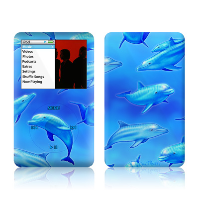 iPod Classic Skin - Swimming Dolphins