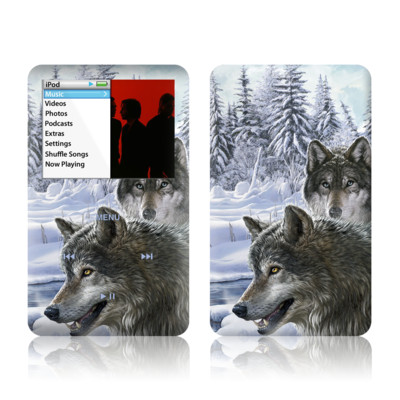 iPod Classic Skin - Snow Wolves