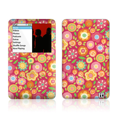 iPod Classic Skin - Flowers Squished