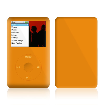 iPod Classic Skin - Solid State Orange