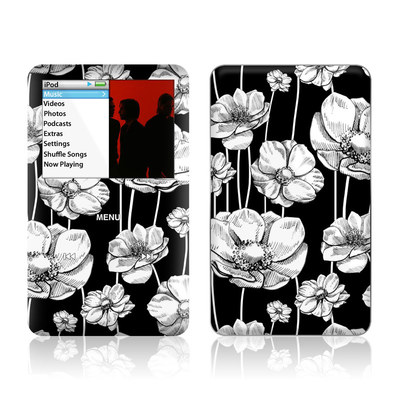 iPod Classic Skin - Striped Blooms
