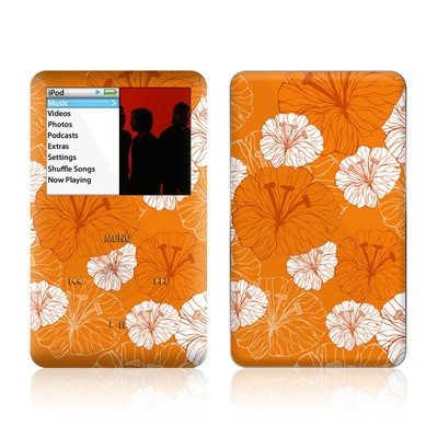 iPod Classic Skin - Tangerine Floral