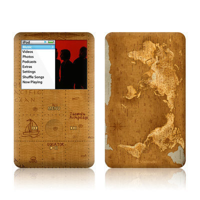 iPod Classic Skin - Upside Down Map