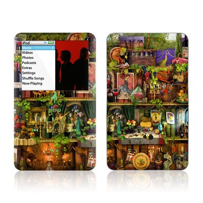 iPod Classic Skin - Wine Shelf