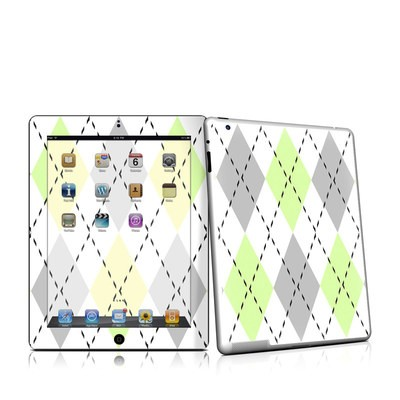 iPad 2 Skin - Mint Argyle